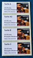 ETIQUETTES MUSEE POSTAL 2021 - BANDE VERTICALE DE 4 VALEURS NEUVE ** - NOUVEAUTE - Ungebraucht