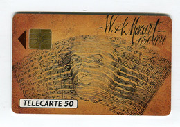 Telecarte °_ France 50u-En 178-gem-09.91-W.A Mozart-1756.1791-3930 Ex.- R/V - 50 Unità