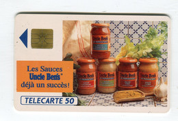 Telecarte °_ France 50u-En 402-gem-07.92-Oncle Bens-Sauces-1708 Ex.- R/V - 50 Unità
