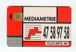 Telecarte °_ France 50u-En 559-gem-12.92-Médiamétrie-1420 Ex.- R/V - 50 Unità