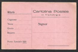CARTOLINA POSTALE IN FRANCHIGIA POSTA SPECIALE 500 NON VG. GUERRA DI SPAGNA N°C410 - Interi Postali
