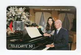 Telecarte °_ France 50u-En 738c-Sc7-04.93-Caroline Et Eddie Barclay-numérotée-1000 Ex.- R/V - 50 Unità