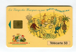 Telecarte °_ France 50u-En 750a-gem-09.93-Bingo Marques-Berberian-20 000 Ex.- R/V - 50 Unità