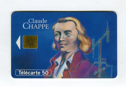Telecarte °_ France 50u-En 788-So3-11.93-Claude Chappe-inventeur Télégraphe-26.000 Ex.- R/V - 50 Unità
