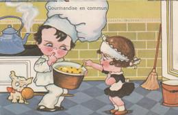 Gourmandise En  Commun.. Scan - Humorkaarten