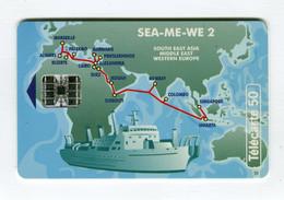 Telecarte °_ France 50u-En 1045-Sc7-10.94-Sea.Me.We.2- Anglaise- 3140 Ex.- R/V - 50 Unità
