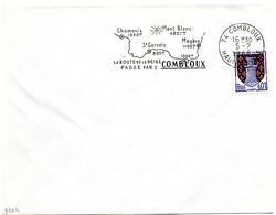 SAVOIE / HAUTE Dépt N° 74 = COMBLOUX 1968 =  FLAMME Codée SUPERBE = SECAP Illustrée 'LA ROUTE DE LA NEIGE PASSE PAR' - Mechanical Postmarks (Advertisement)