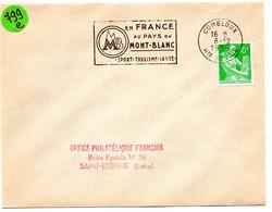 SAVOIE / HAUTE Dépt N° 74 = COMBLOUX 1959 = FLAMME SECAP Illustrée ' EN FRANCE AU PAYS DU MONT BLANC SPORT TOURISME ' - Mechanical Postmarks (Advertisement)