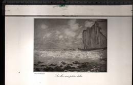 Claude Monet, La Mer Aux Petites Dalles ( Reproduction Papier) - Altri