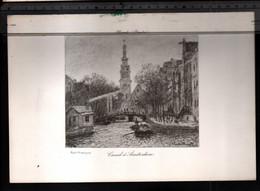 Claude Monet, Canal à Amsterdam ( Reproduction Papier) - Altri