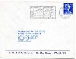 SAVOIE / HAUTE Dépt N° 74 = COMBLOUX 1958 = FLAMME SUPERBE = SECAP Illustrée'SKI NEIGE SOLEIL / ENCHANTEMENT' - Mechanical Postmarks (Advertisement)