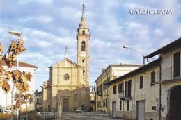 (R411) - GARZIGLIANA (Torino) - Piazza Vittorio Veneto Con Municipio E Chiesa Parrocchiale Di San Benedetto - Non Classificati