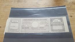 LOT560603 TIMBRE DE FRANCE NEUF** LUXE COLIS POSTAUX PARIS POUR PARIS - Collections