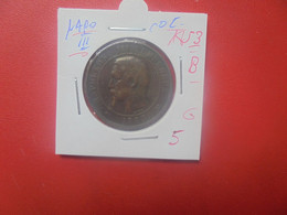 """NAPOLEON III. 10 Centimes 1853 """"B"""" (A.2) - D. 10 Centimes"""