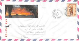 POLYNESIE-FRANCAISE - TAHITI - Timbre Sur Lettre De 1985 - Briefe U. Dokumente
