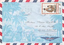POLYNESIE-FRANCAISE - TAHITI - Timbre Sur Lettre De 1984 - Briefe U. Dokumente