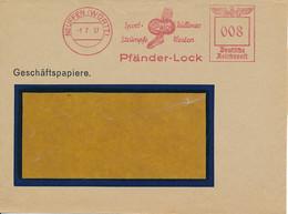 Freistempel Neuffen (Württ) 1.7.37 – Sport Strümpfe / Pullover Westen - Front - Poststempel - Freistempel