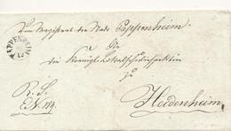 Vorläufer Pappenheim Schreibt Am 14.12.1839 An Heidenheim - [1] Prephilately