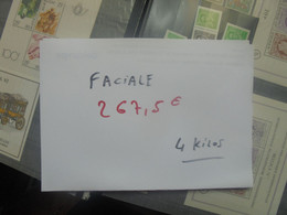 +++FACIALE 267,50 EURO+++ BELGIQUE+++REPARTITION :196 EURO En F.B Et 71,50 EURO En EURO (4 KILOS) - Verzamelingen
