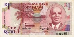 Malawi 1 Kwacha 1992 Pick 23b UNC - Malawi