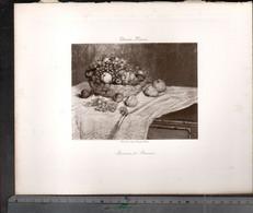 Claude Monet, Pommes Et Raisins  ( Reproduction Papier) - Altri