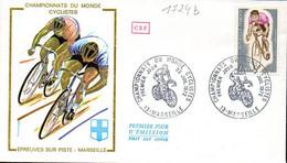 France 1724b Fdc Cyclisme Championnats Du Monde Gap 04 Aout 1972 - Ciclismo