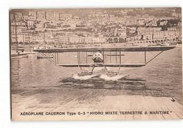 HYDRAVION CAUDRON G3 Amérissage En Baie De Monaco Vers 1910 Avion MONTE CARLO ELD E LE DELEY Paris - Other