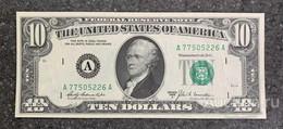 США 10 ДОЛЛАРОВ 1969 A 1A (БОСТОН) № A 77505226 A 'UNC!!!' (см.фото) - Bilglietti Della Riserva Federale (1928-...)