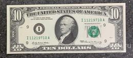 США 10 ДОЛЛАРОВ 1969 9I (МИННЕАПОЛИС) № I 11219710 A 'UNC!!!' (см.фото) - Bilglietti Della Riserva Federale (1928-...)