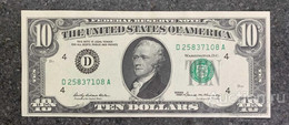 США 10 ДОЛЛАРОВ 1969 4D (КЛИВЛЕНД) № D 25837108 A 'UNC!!!' (см.фото) - Bilglietti Della Riserva Federale (1928-...)