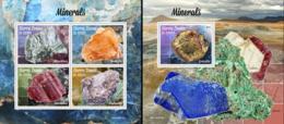 Sierra Leone 2019, Minerals, 4val In BF +BF - Sierra Leone (1961-...)