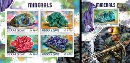 Sierra Leone 2018, Minerals, 4val In BF+BF - Sierra Leone (1961-...)