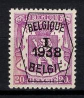 PRE 334 **, MNH, Neufs. De 1938. Série 1 - Typos 1936-51 (Kleines Siegel)