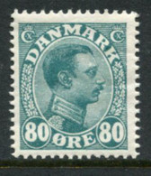 DENMARK 1915 King Christian X Definitive 80 Øre MNH / **.  Michel 74; SG 164 - Ungebraucht