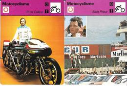 GF1944 - FICHES RENCONTRE - MOTOCYCLISME - MV AGUSTA GIACOMO AGOSTINI - ALAIN PRIEUR - RUSS COLLINS - WALTER VILLA - Altri