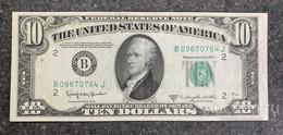 США 10 ДОЛЛАРОВ 1950 D 2B (НЬЮ-ИОРК) № B 09670764 J 'UNC!!!' (см.фото) - Federal Reserve (1928-...)
