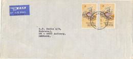 Kenya Cover Sent Air Mail To Denmark - Kenya (1963-...)