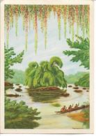 GABON - Ile Couverte De Lianes Fines - Peinture F. GREBERT - Gabun