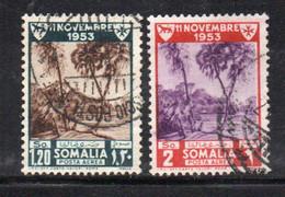 APR98 - SOMALIA AFIS 1954 , Posta Aerea N. 23/24  Usato (2380A) - Somalia (AFIS)