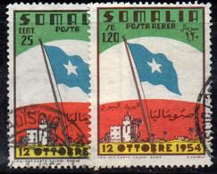 APR78 - SOMALIA AFIS 1954 , Serie N. 26 + Posta Aerea   Usato (2380A) - Somalia (AFIS)