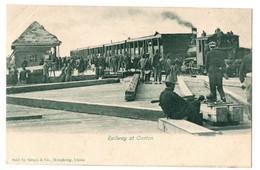 1900/10s CANTON Railway Station W/ Train Postcard Cpa CHINE China Hong Kong Guangzhou Chemin De Fer Railroad - Cina
