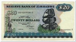 ZIMBABWE,20 DOLLARS,1983,P.4c,VF-XF - Simbabwe