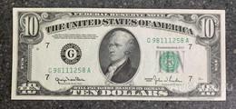 США 10 ДОЛЛАРОВ 1950 G7 (ЧИКАГО) № G 98111258 A 'UNC!!!' (см.фото) - Federal Reserve (1928-...)