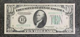 США 10 ДОЛЛАРОВ 1934 D 8H (СЕНТ-ЛУИС) № H 20062022 'UNC!!!' (см.фото) - Federal Reserve (1928-...)