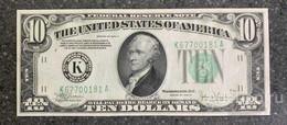 США 10 ДОЛЛАРОВ 1934 C 11K (ДАЛЛАС) № K 67700181 A 'UNC!!!' (см.фото) - Federal Reserve (1928-...)