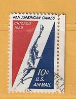 Timbre Etats-Unis Poste Aérienne N° PA 54 - 2a. 1941-1960 Usati
