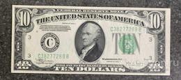 США 10 ДОЛЛАРОВ 1934 C 3C  (ФИЛАДЕЛЬФИЯ) № C 38277289 B 'UNC!!!' (см.фото) - Federal Reserve (1928-...)