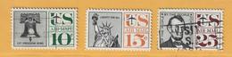 Timbre Etats-Unis Poste Aérienne N° PA 56 - PA 58 - PA 60 - 2a. 1941-1960 Usati