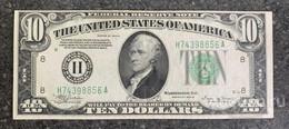 США 10 ДОЛЛАРОВ 1934 B 8H (СЕНТ-ЛУИС) № H 74398856 A 'aUNC' (см.фото) - Federal Reserve (1928-...)