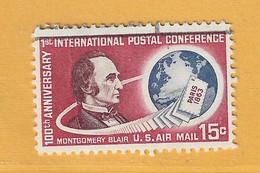 Timbre Etats-Unis Poste Aérienne N° PA 62 - 3a. 1961-… Usati